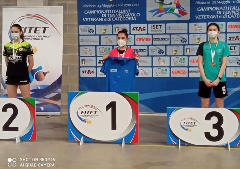 Campionati italiani di categoria femminile: a Riccione Sofia Minurri vince il titolo di 4^ categoria