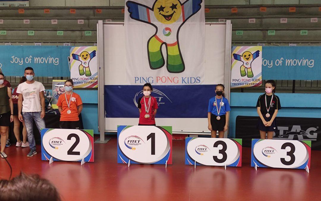 Angela Leogrande conquista il secondo posto nel singolare femminile al Ping Pong Kids Special Edition 2021